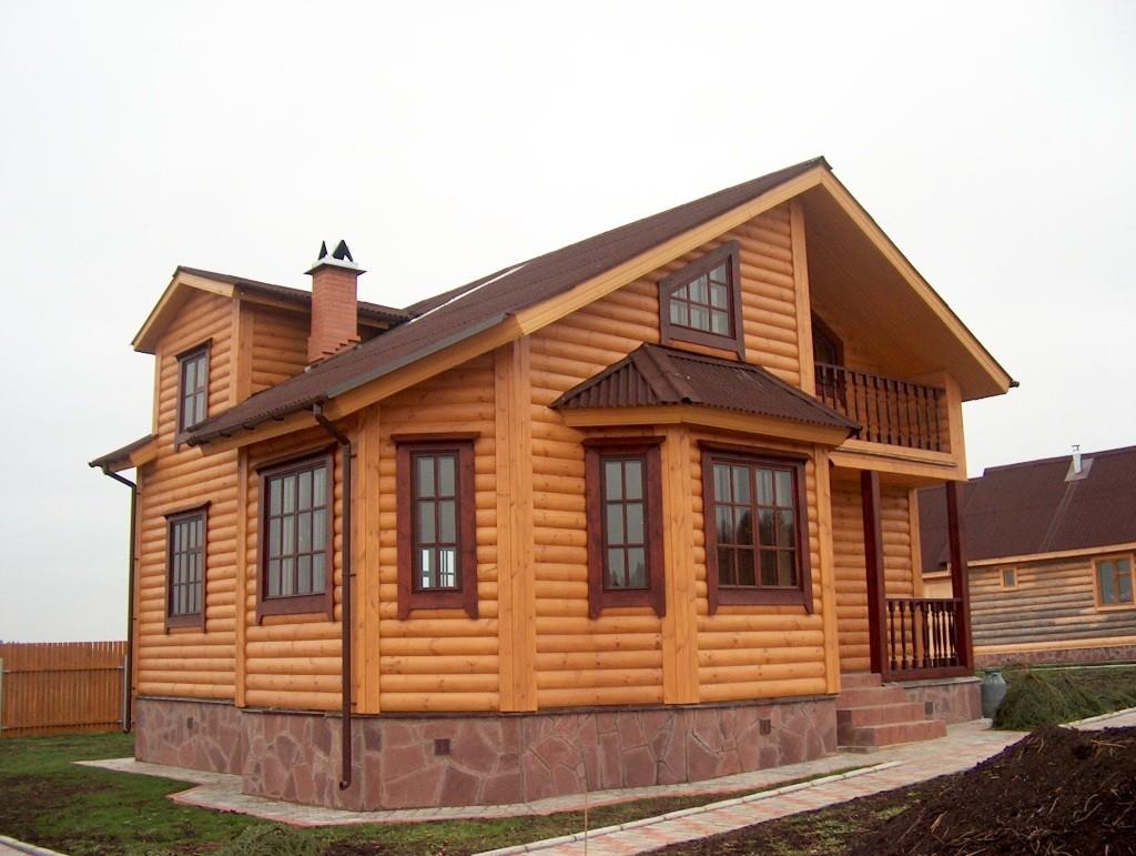 Деревянный блок хаус фото отделанных домов
