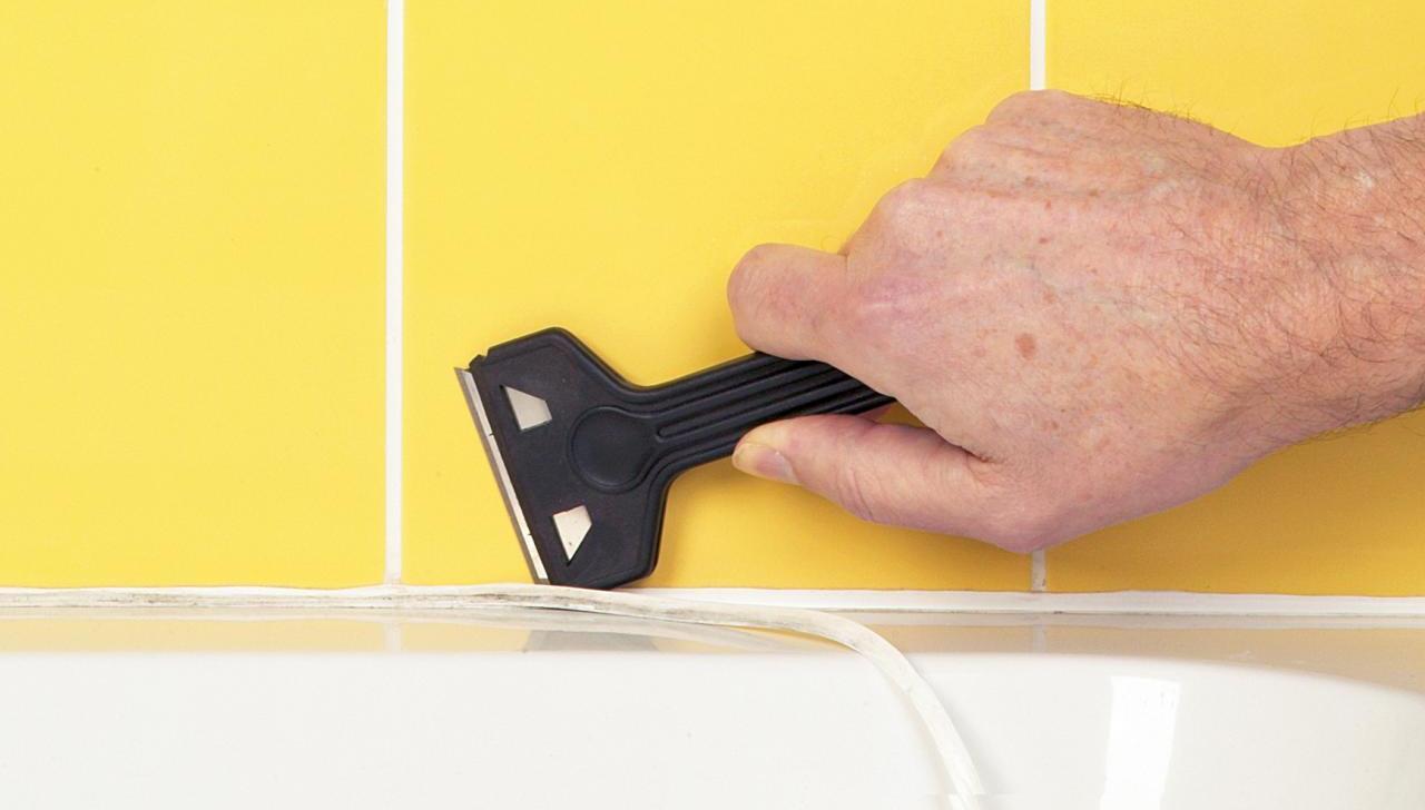 Как удалить силиконовый герметик с ванной
