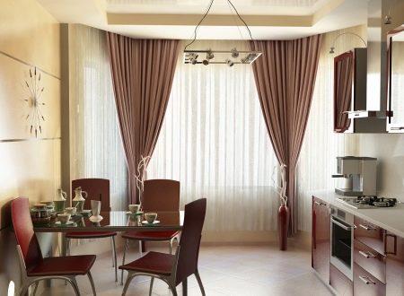 Тюль на кухню 2018 (96 фото): современные кухонные шторы, новинки в виде арки с ламбрекеном, как повесить красиво