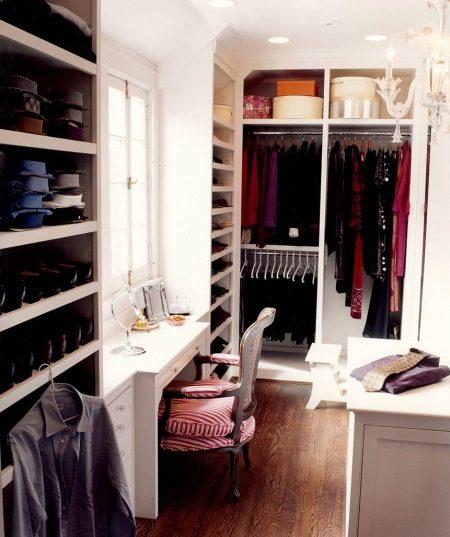 Дизайн небольшой гардеробной комнаты фото