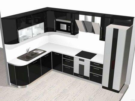 Ein Nachttisch in der Küche