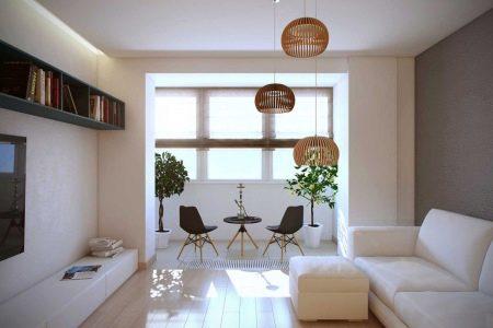 Объединение лоджии с комнатой: фото, решение для малогабарит.