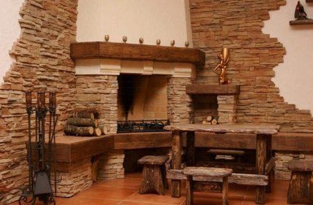 Piedra Para Chimenea Ver De Piedra Para El Hogar Con Reformas - Chimeneas-forradas-de-piedra