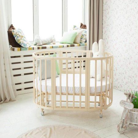 cama ovalada