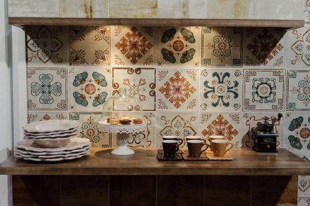 Piastrelle patchwork per la cucina