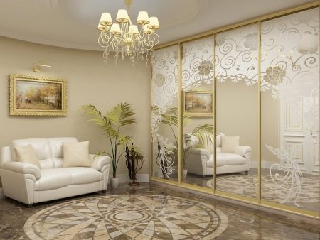 Шкафы-купе в интерьере гостиной (50 фото): идеи дизайна - формируем интерьер правильно
