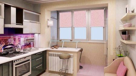 Кухня с балконом - ваш проект дв.