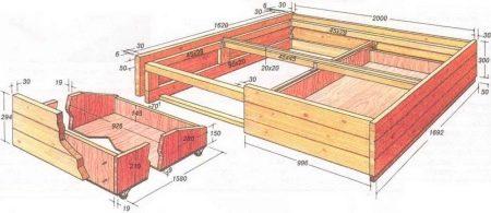 Подиум с выдвижной кроватью своими руками пошагово 49