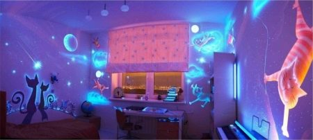Светящиеся обои (39 фото): люминесцентные обои для потолка в виде звездного неба, неоновые покрытия для стен со звездами, которые светятся в темноте