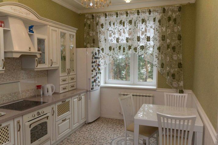 дизайн штор для кухни столовой 2