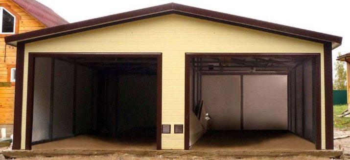 Двухэтажные гаражи из сэндвич панелей цена железные сборные гаражи цены