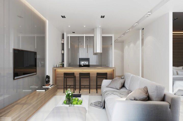 Дизайн кухни совмещенной с гостиной и прихожей фото 2018 современные идеи
