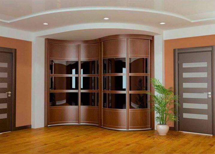 Дизайн углового шкафа в коридор 104