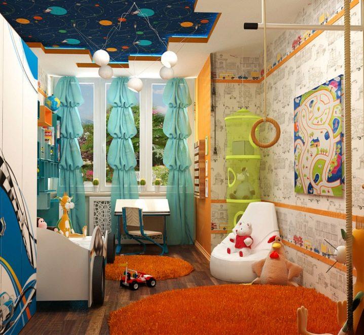 Дизайн детской 8 кв м и 9 кв м- фото галерея интерьеров