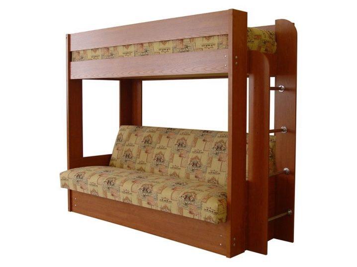 Купить двухъярусную кровать с диваном Моск обл