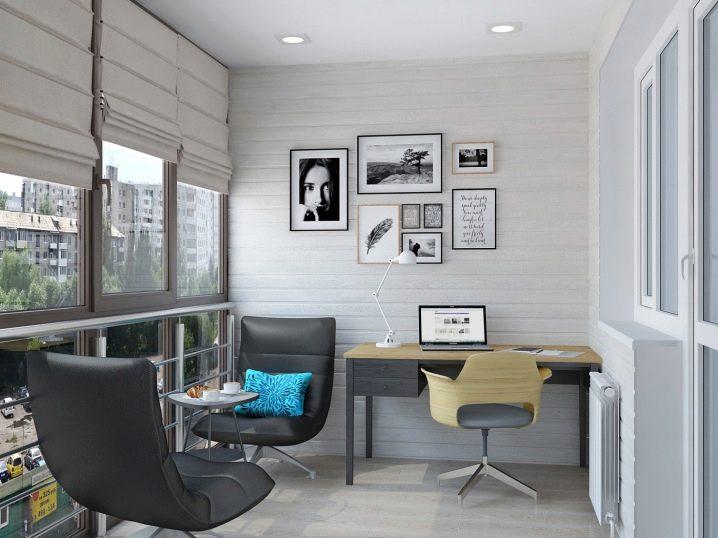 Дизайн кабинета на балконе (33 фото): креативные примеры спа.