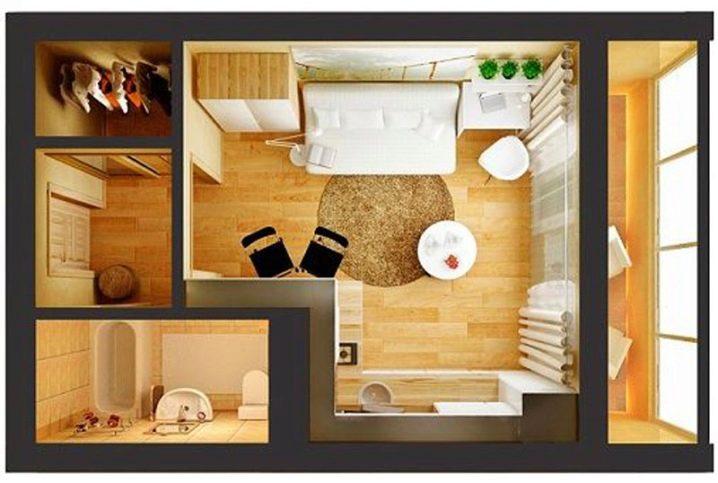 планировка студий квартир фото