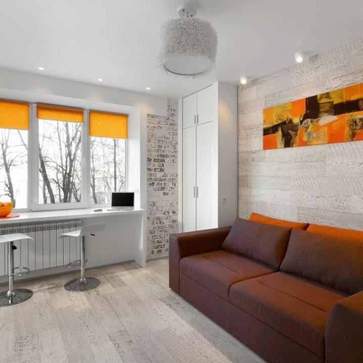 кухня гостинная 178 кв метров дизайн фото с холодильником 1