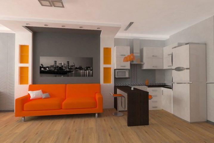 Эконом дизайн однокомнатной квартиры 35 кв.м