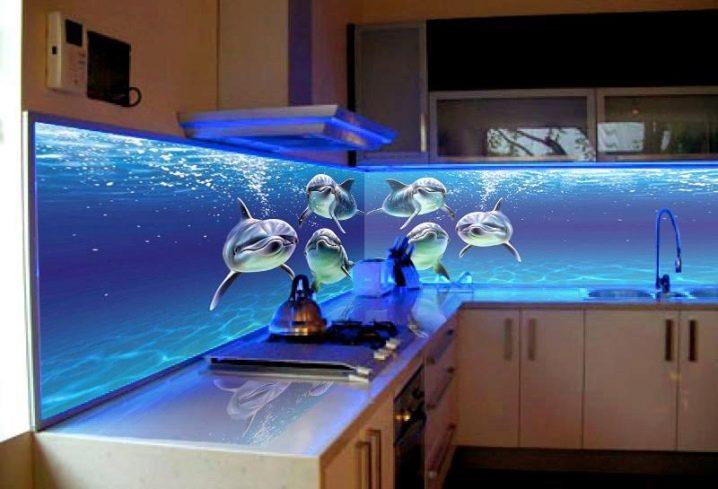Стеклянный фартук с подсветкой для кухни своими руками 30