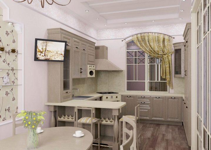 Einzelne Elemente von Küchenmöbeln für eine kleine Küche