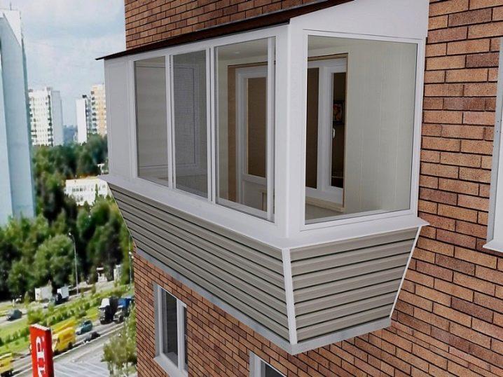 Внешняя отделка балкона (58 фото): наружная облицовка и обши.