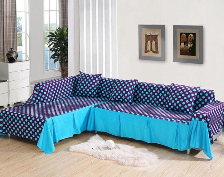 Чехол на угловой диван на резинках своими руками