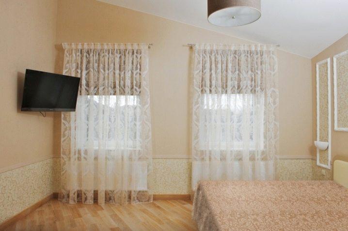 рулонные шторы с тюлем