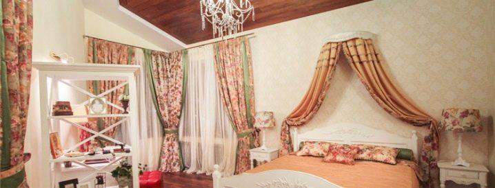 шторы кантри в спальне