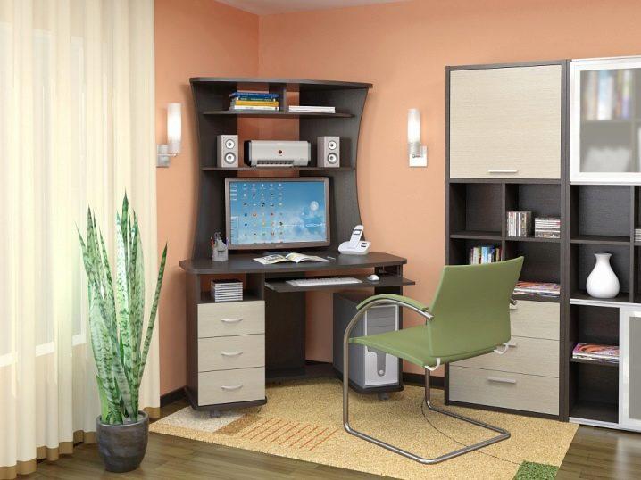 Угловые столы (65 фото): рабочий письменный столик для компь.