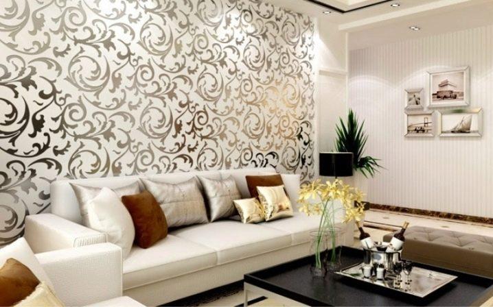 Как красиво поклеить обои в зале& (59 фото) Какие наклеить дома, варианты дизайна и интересные идеи поклейки