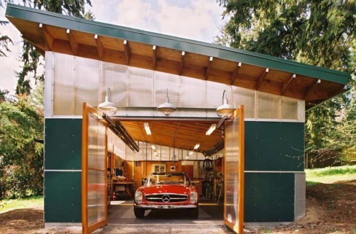 Гараж деревянный односкатный гаражи купить липецк