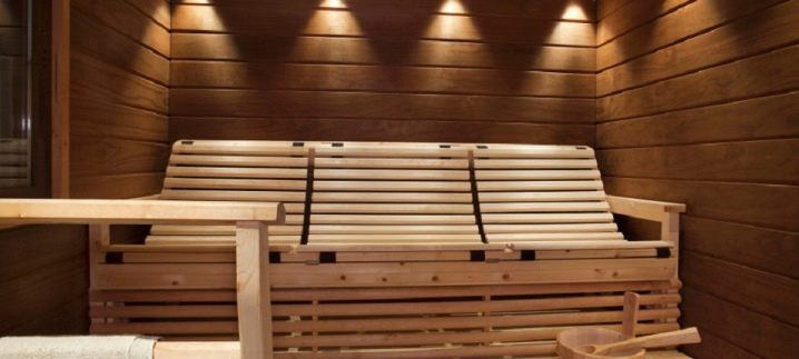 Угловая скамья для бани
