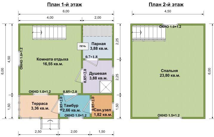 Как оформить фасад бани